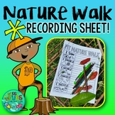 Nature Walk Activity FREEBIE! {Writing recording sheet for