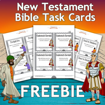 FREEBIE New Testament Bible Task Cards