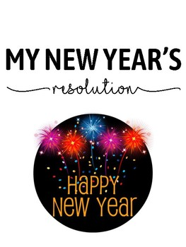 FREEBIE - New Year's Resolution Form