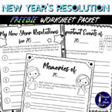 FREEBIE - New Year's Resolution Packet