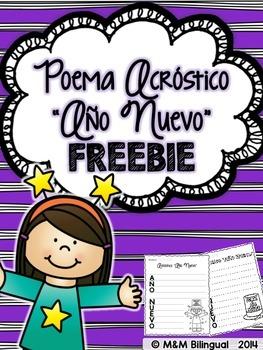 FREEBIE New Year's Acrostic Poem {Spanish}