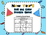 FREEBIE: New Year's Roll-and-Add to Color Game