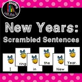 FREEBIE New Years Scrambled Sentences