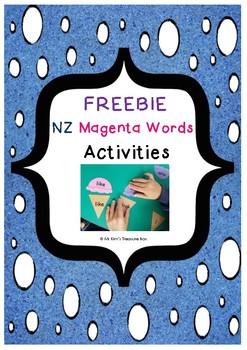 FREEBIE New Zealand Magenta Words Activities