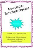 FREEBIE - Newsletter Template