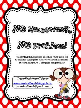 FREEBIE: No Homework, No Problem