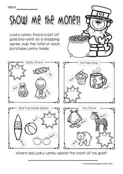 FREEBIE No Prep, Just Print! St.Patrick's Day Literacy and Math Grade 1