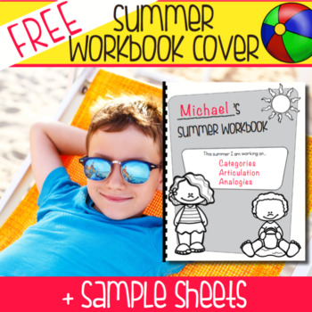 FREEBIE: No Prep Summer Workbook Cover + Sample Sheets