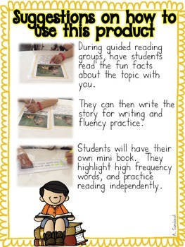 FREEBIE Non-Fiction Guided Reading Passages in Spanish