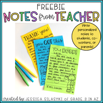 FREEBIE: Notes from Teacher