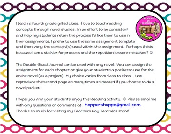 Reading FREEBIE! Novel Study CLOSE Reading Strategy - Track Thinking in Reading!