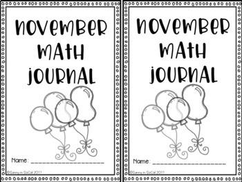 FREEBIE November Math Journal Error Analysis and Problem Solving 3rd Grade