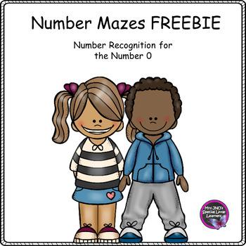 FREEBIE Number 0 Mazes Worksheets