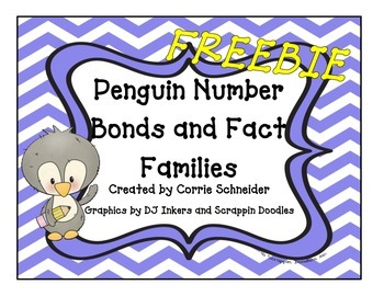 FREEBIE  Number Bonds (Penguin Themed)