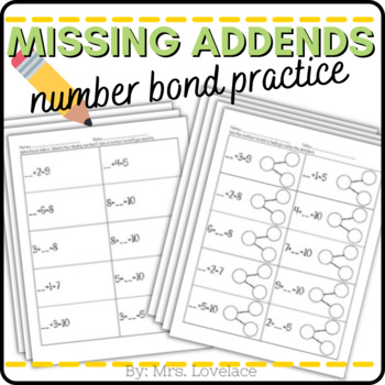 Number Bonds missing numbers - Singapore math by Mrs ...