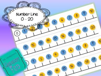 FREEBIE Number Line 0-20
