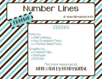 FREEBIE: Number Lines