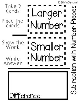 FREEBIE - Number Pieces Subtraction Mat