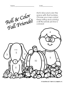 FREEBIE!  Number Recognition Roll and Color