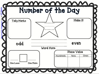 FREEBIE- Number of the Day