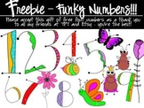 FREEBIE - Numbers to match my Funky Fonts Combo Pack!
