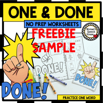 FREEBIE! ONE & DONE SPEECH THERAPY ARTICULATION NO PREP worksheets