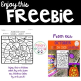 FREEBIE October Color By Code Addition