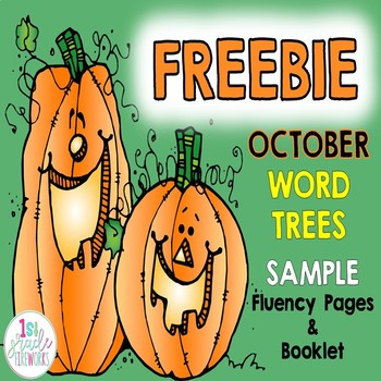 FREEBIE...October Word Trees  SAMPLER