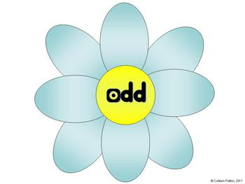 FREEBIE Odd and Even Flower Power