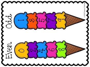 {FREEBIE} Odd and Even Poster - Ice Cream