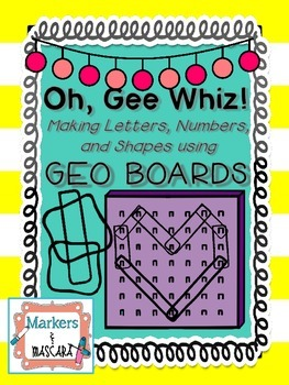FREEBIE!  Oh, Gee Whiz- Math Centers with Geo Boards