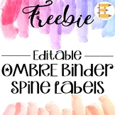 FREEBIE: Ombre Binder Spine Labels in 5 Different sizes! {