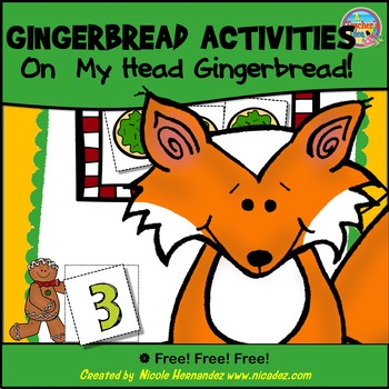 Gingerbread Man Activities (Number Matching - On My Head Gingerbread!)