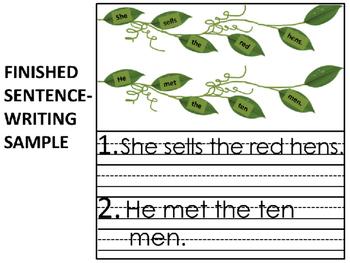 FREEBIE Once Upon a Vine Spring Sentence Builder Vol I Short Vowels