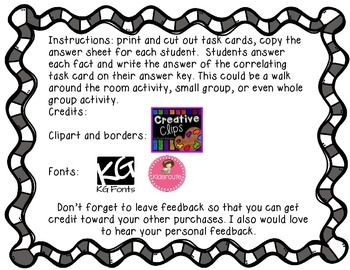 FREEBIE One Digit Addition Task Cards
