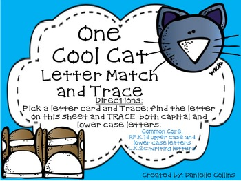 FREEBIE-One cool Cat Letter Trace