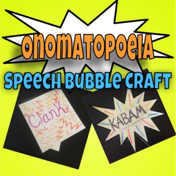 FREEBIE! Onomatopoeia Sound Bubble Craft