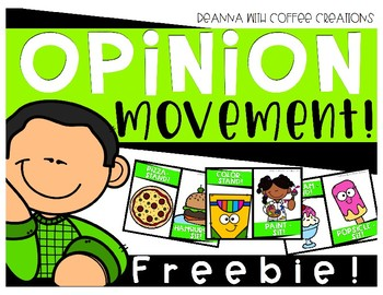 FREEBIE - Opinion Movement Interactive Game