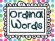 FREEBIE - Ordinal Words *Correction