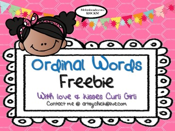 FREEBIE - Ordinal Words *Correction