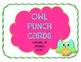 {FREEBIE} Owl Punch Card