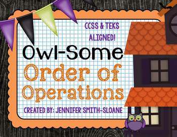 FREEBIE Owl-Some Order of Operations Match-Up (with Exponents)