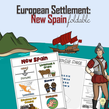 FREEBIE PDF New Spain European Settlement 6 Large Windows Foldable