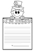 FREEBIE PDF St. Patrick's Day Themed Writing Paper 'I am lucky'