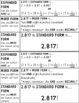 FREEBIE- PEMDAS/Number Forms Notebook Inserts