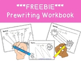 FREEBIE PREWRITING WORKBOOK 10 pages ! Color & trace the pre-writing lines!