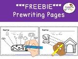 FREEBIE PREWRITING WORKBOOK (#2) ..... 10 pages ! Color & trace OT SPED prek