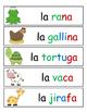 FREEBIE - Palabras de Vocabulario de Animales con asistencia silabica.