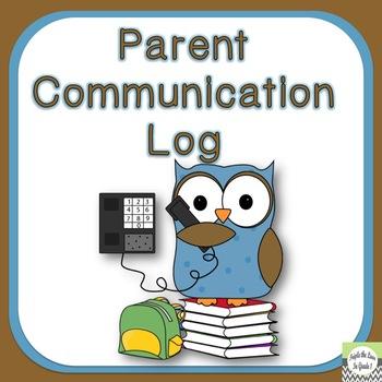 FREEBIE Parent Communication Log