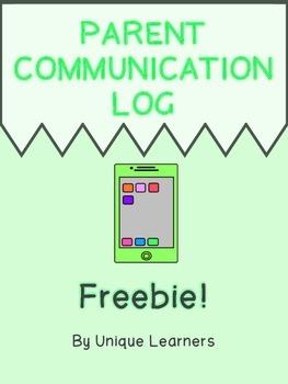 FREEBIE ~ Parent Communication Log